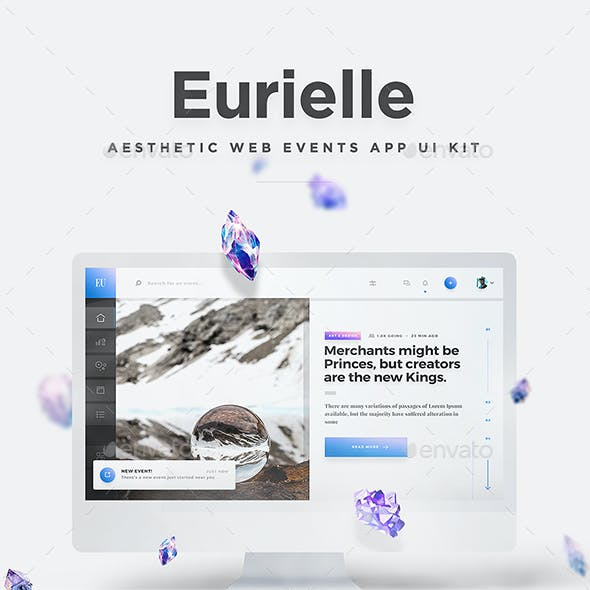 Eurielle Web - Aesthetic Events & Dashboard Web App UI Kit