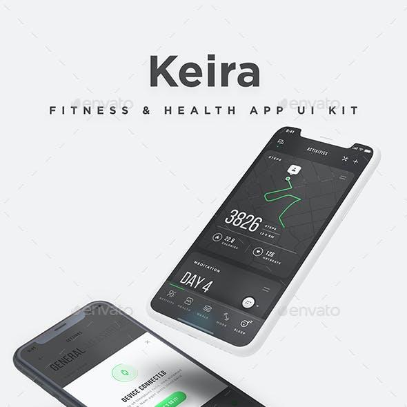 Keira UI Kit - Mobile Health & Fitness App UI kit