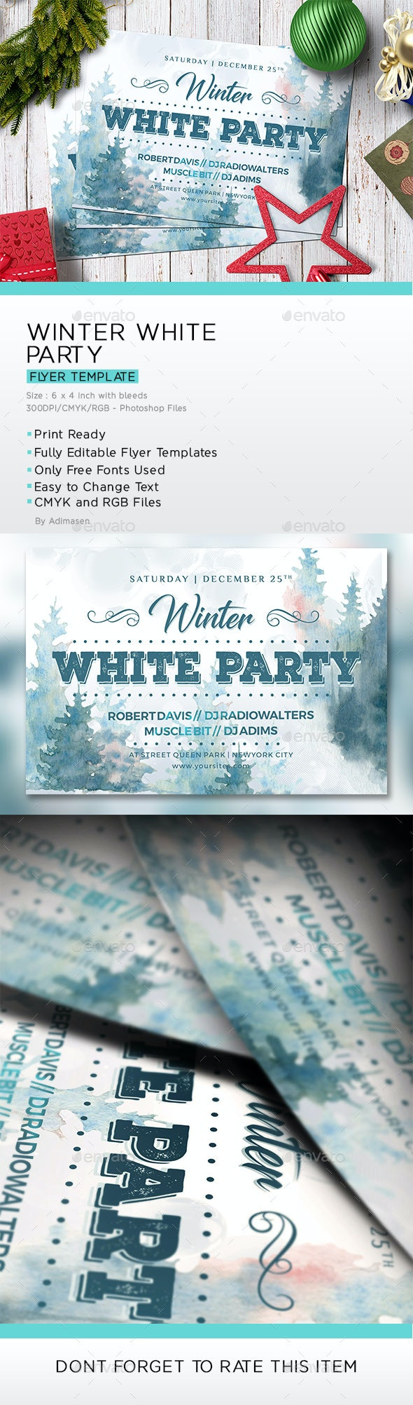 Winter White Party - Events Flyers