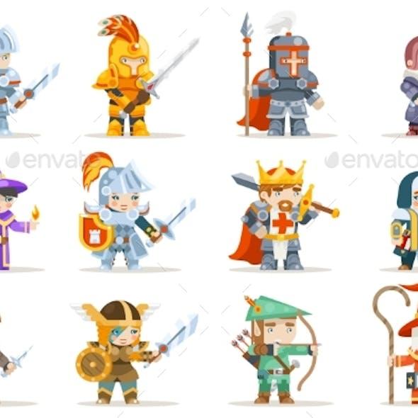 Fantasy Set Game Heroes Characters