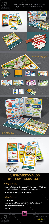 Supermarket Products Catalog Brochure Bundle Template Vol.4 - Catalogs Brochures