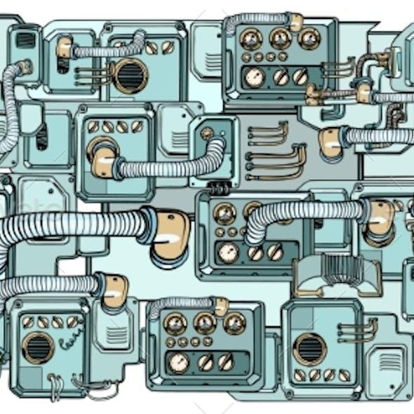 Cyberpunk Robots Mechanisms and Machines. Details