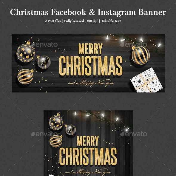 Christmas Facebook and Instagram Banner