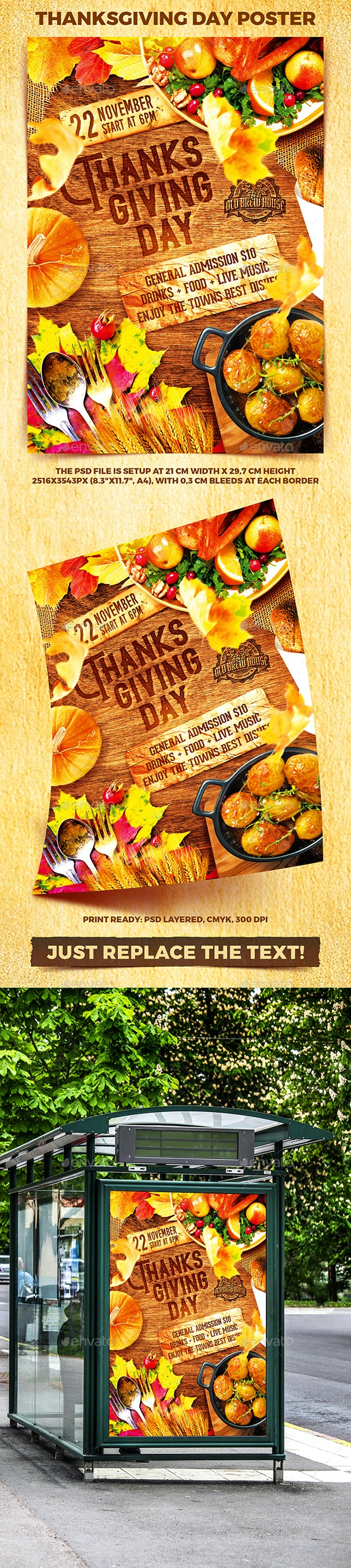 Thanksgiving Day Party Poster vol.2 - Holidays Events