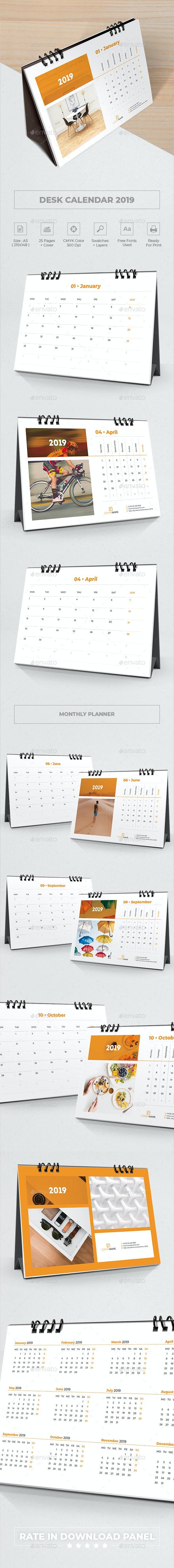 Desk Calendar 2019 Planner - Calendars Stationery
