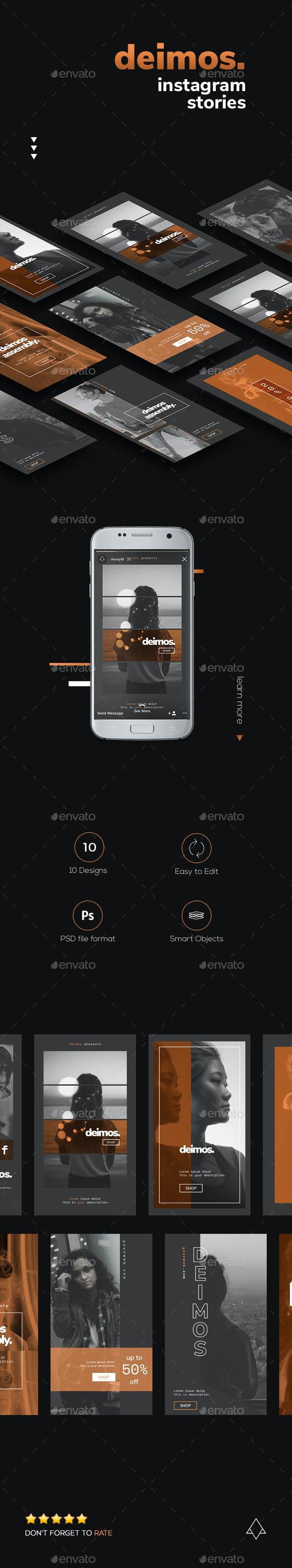 Deimos - Modern Instagram Stories - Social Media Web Elements