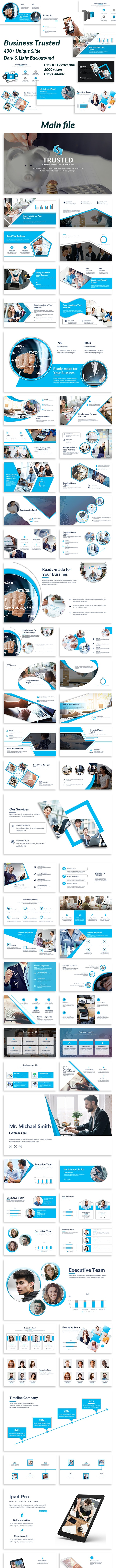 Business Trusted Keynote Template - Business Keynote Templates