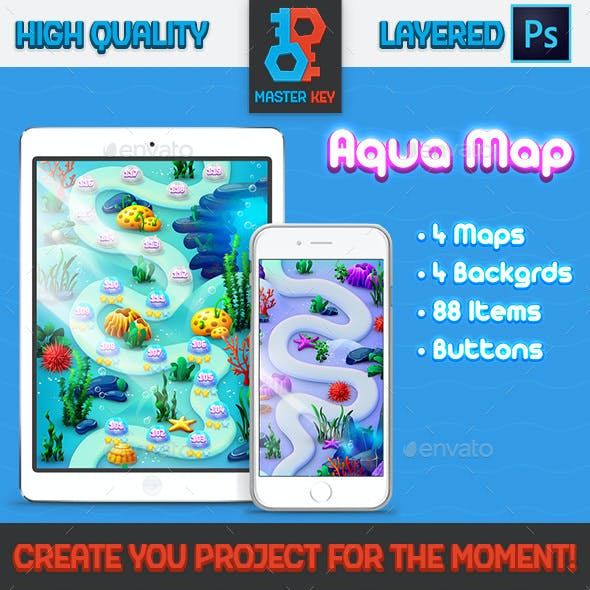 Aqua Game Map and Background Maker