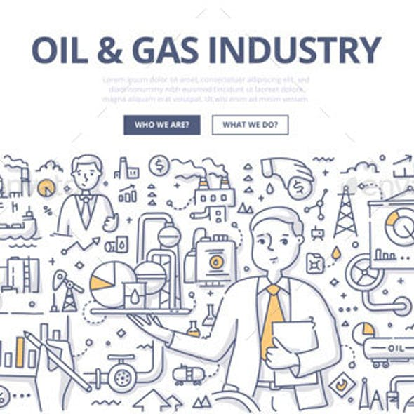 Oil and Gas Industry Doodle Concept