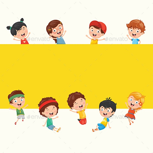 Kids Playing Vector Collection - People Characters