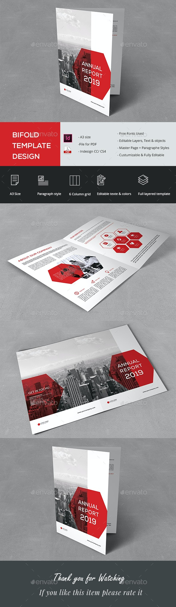 Stylish Bifold Template - Corporate Flyers