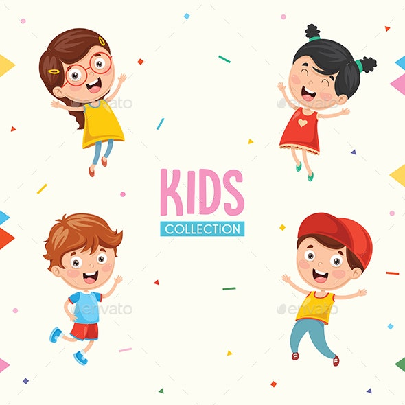Kids Characters Vector Collection - People Characters