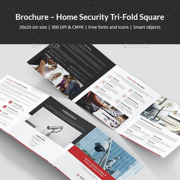 Brochure – Home Security Tri-Fold Square