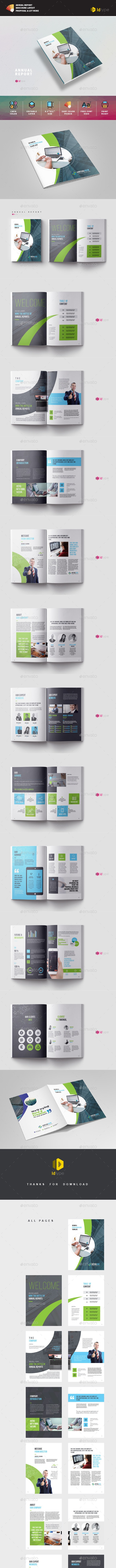 Annual Report - Magazines Print Templates