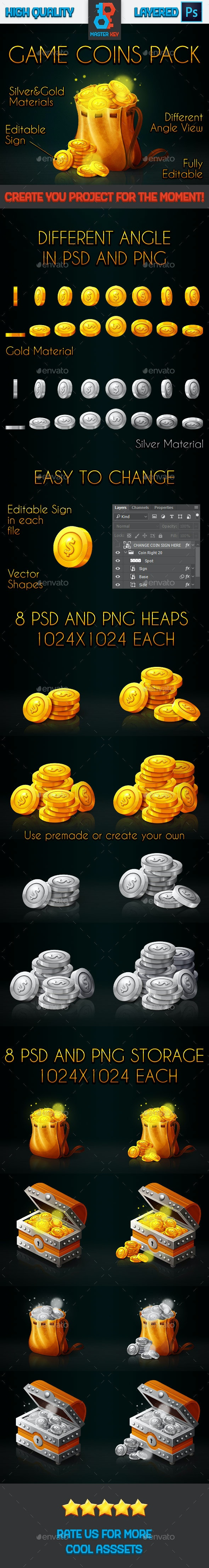 Game Coins Pack - Miscellaneous Game Assets
