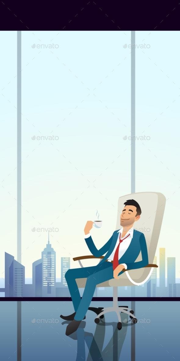 Businessmen Coffee - People Characters