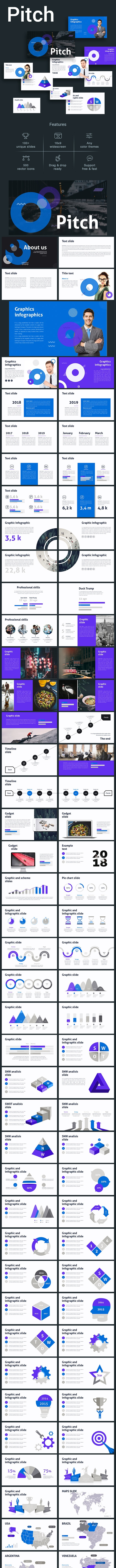 Pitch PowerPoint Template - Pitch Deck PowerPoint Templates