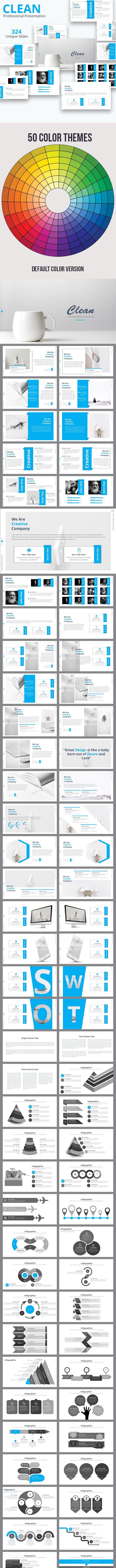 Clean Premium Keynote Presentation Templatee - Business Keynote Templates