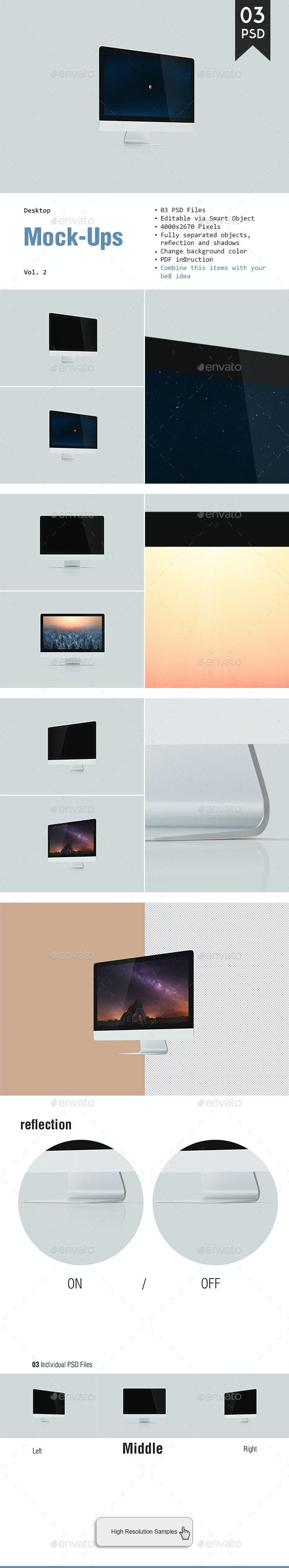 Desktop Mockup Vol. 2 - Monitors Displays