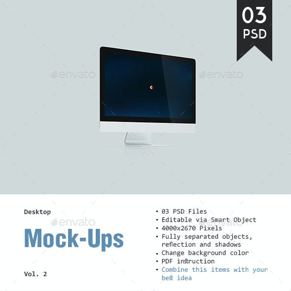 Desktop Mockup Vol. 2