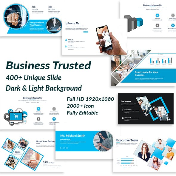 Business Trusted Google Slide Template