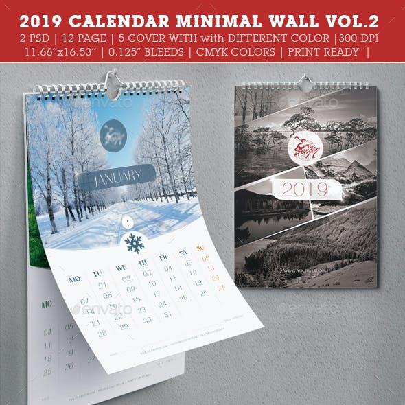 2019 Wall Calendar Minimal Vol.2