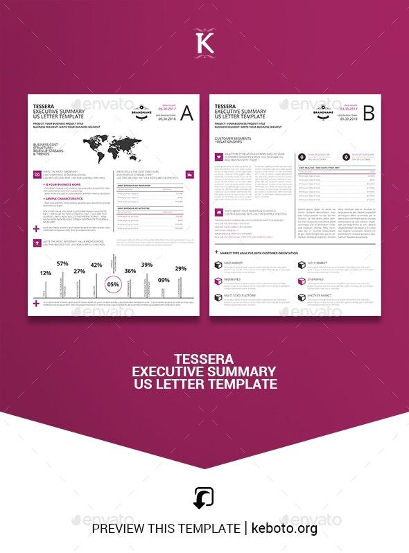 Tessera Executive Summary US Letter Template - Miscellaneous Print Templates