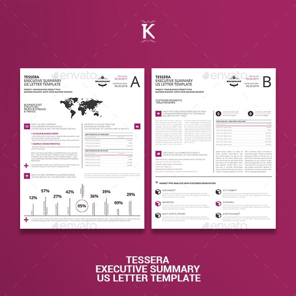 Tessera Executive Summary US Letter Template