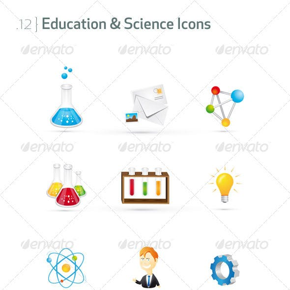 Education & Science Icons