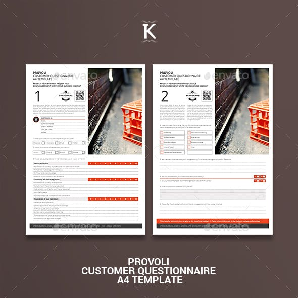 Provoli Customer Questionnaire A4 Template