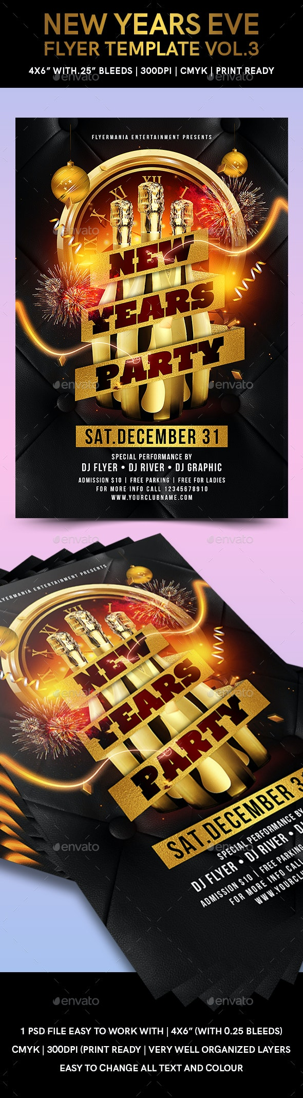 New Years Eve Flyer Template Vol.3 - Events Flyers