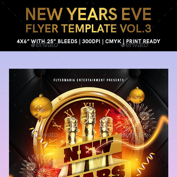 New Years Eve Flyer Template Vol.3