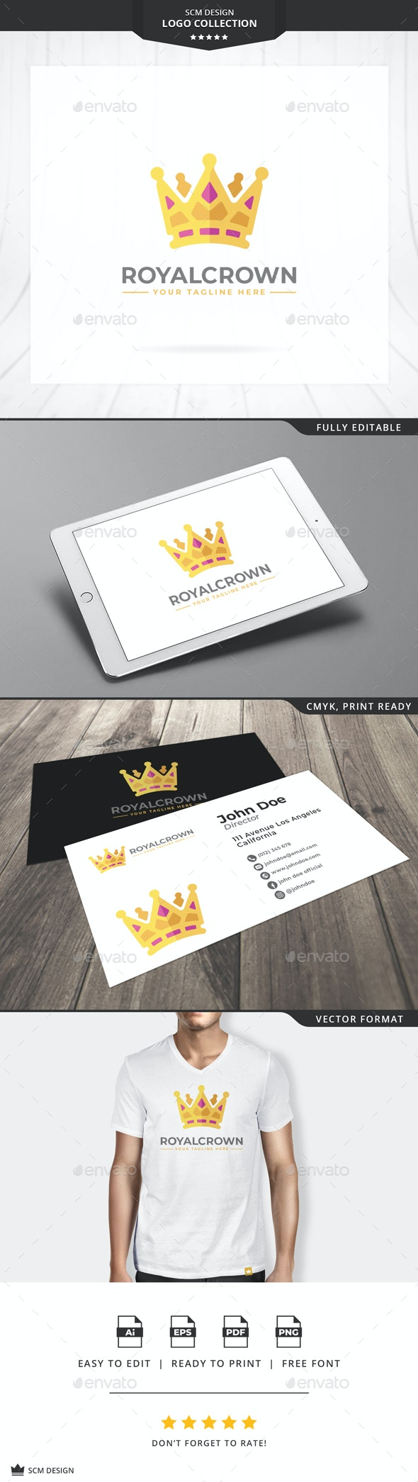 Royal Crown Logo - Symbols Logo Templates