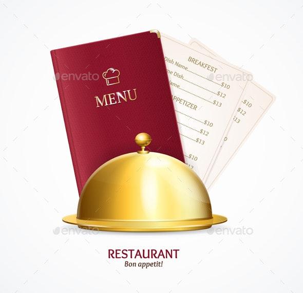 Realistic Detailed Restaurant Menu Concept - Miscellaneous Vectors