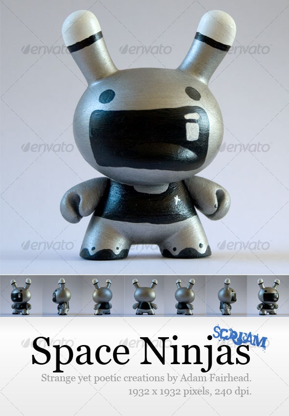 Space Ninjas (Scream) - Home & Office Isolated Objects