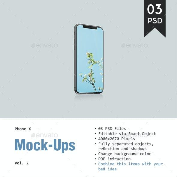 Phone X Mockup Vol. 2