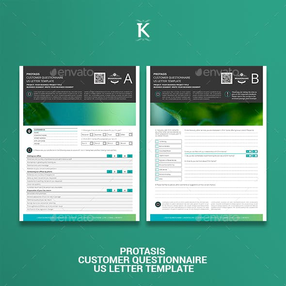 Protasis Customer Questionnaire US Letter Template