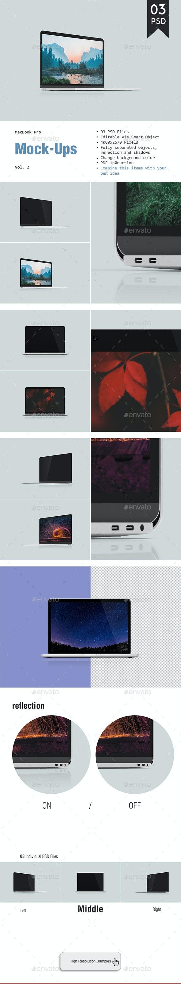 MacBook Pro Mockup - Laptop Displays
