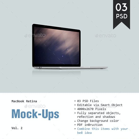 MacBook Retina Mockup