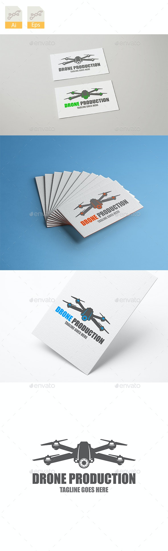 This is the Drone Production Logo Design - Company Logo Templates