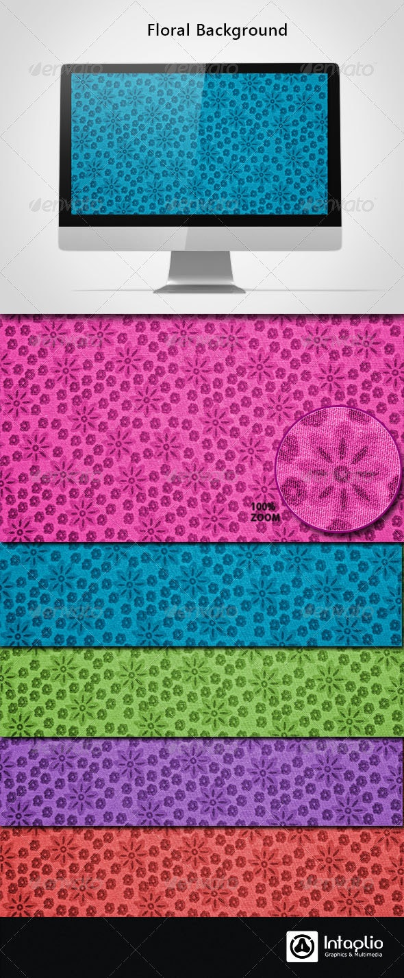 Floral Background 03 - Backgrounds Graphics
