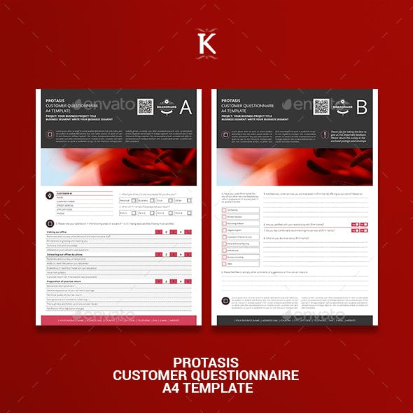 Protasis Customer Questionnaire A4 Template