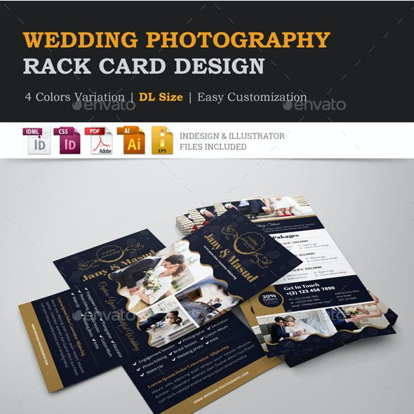 Wedding Photography Rack card Design Template