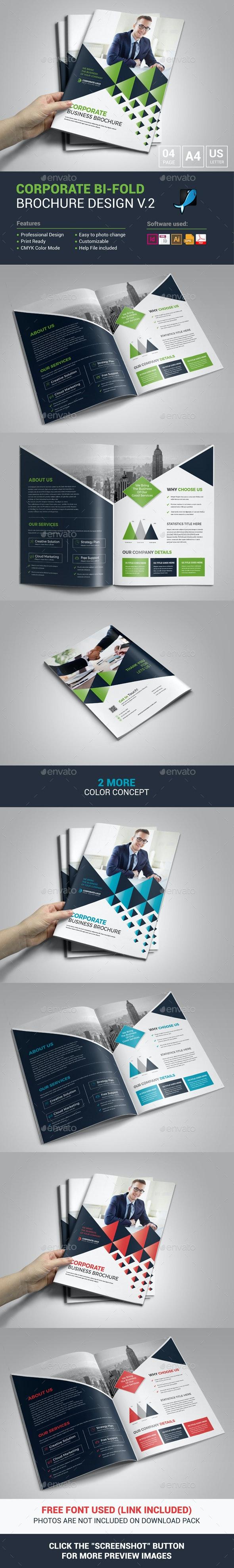 Corporate Bi-Fold Brochure Design - Corporate Brochures
