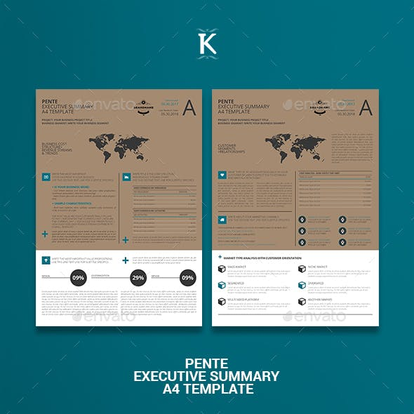 Pente Executive Summary A4 Template