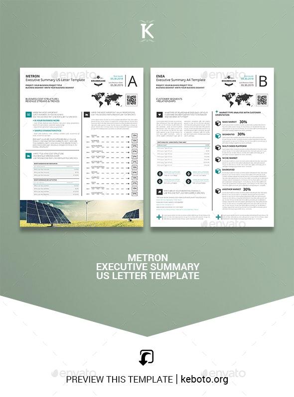 Metron Executive Summary US Letter Template - Miscellaneous Print Templates