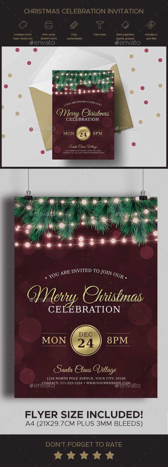 Christmas Celebration Invitation - Invitations Cards & Invites
