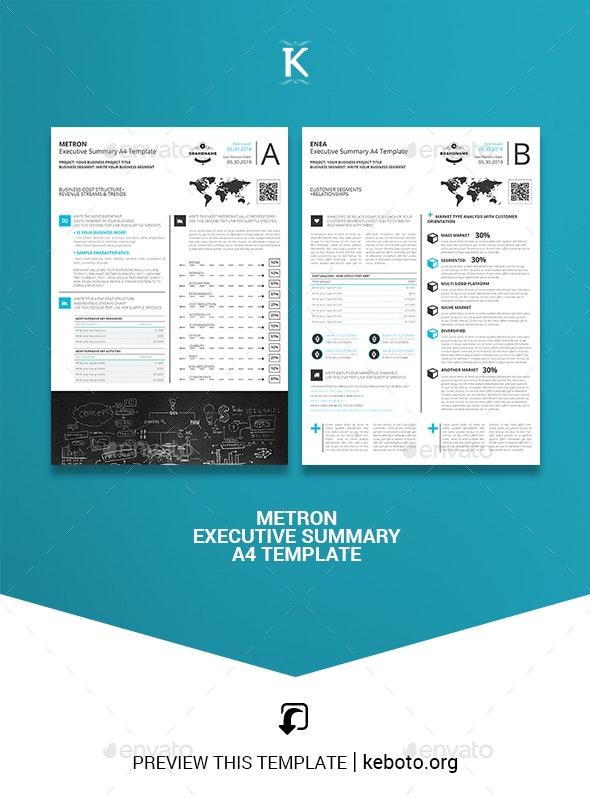Metron Executive Summary A4 Template - Miscellaneous Print Templates