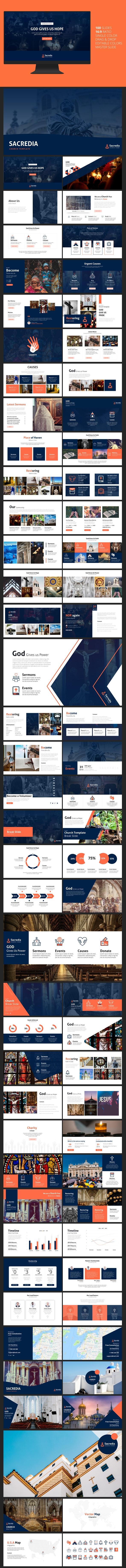Sacredia - Church PowerPoint Template - PowerPoint Templates Presentation Templates
