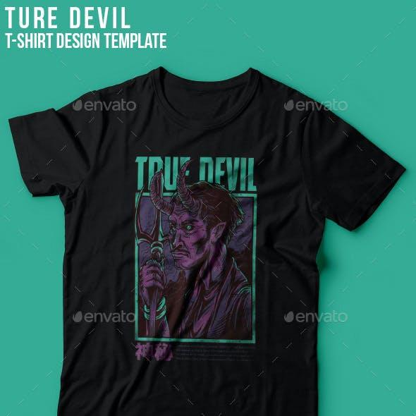 True Devil T-Shirt Design